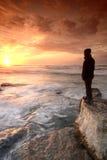 Sorveglianza del tramonto Immagine Stock