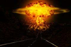 Souffle de panne atomique dans le désert Photos libres de droits