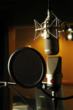 Sound studio with microphone Stock Photography