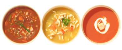 Soup variety Royalty Free Stock Images