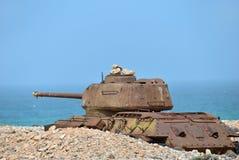 Soviet battle tank Stock Photography
