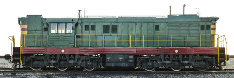Freight diesel locomotive Royalty Free Stock Image