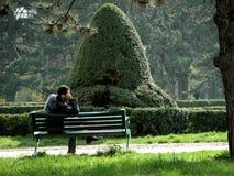 Sozinho no parque Imagens de Stock