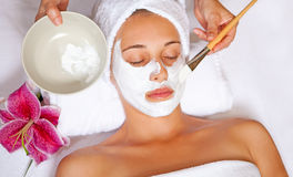 Spa face mask Stock Photo