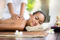 Spa massage outdoor Royalty Free Stock Photography