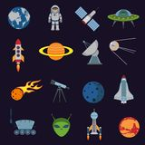 Space and astronomy icons Royalty Free Stock Photo