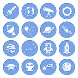 Space and Astronomy Icons Stock Photos
