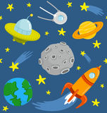 Space pattern Royalty Free Stock Images