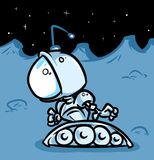 Space robot the lunar surface Royalty Free Stock Photography