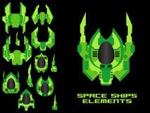 Spaceship Creation Kit Royalty Free Stock Images