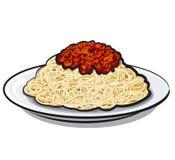 Spaghetti with sauce Stock Photos
