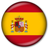 Spanish Flag Button Stock Photography