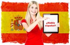 Spanish language learning concept Royalty Free Stock Image