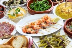 Spanish tapas variety Stock Photos