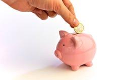 Sparen geld Stock Afbeelding