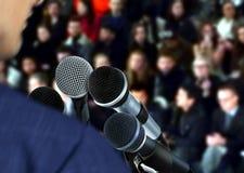 Speaker at Seminar Giving Speech Royalty Free Stock Photography