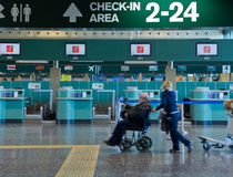 Special assistance the airport Royalty Free Stock Images