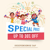 Special Sale on occasion of American Independence Day. Stock Photo