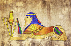 Sphinx - mythical creature Royalty Free Stock Images
