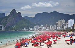 Spiaggia di Ipanema, Rio de Janeiro Fotografie Stock