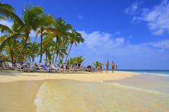 Spiaggia tropicale nella Repubblica dominicana, caraibica Immagini Stock Libere da Diritti