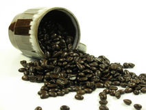 Spilling the beans Royalty Free Stock Image