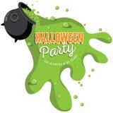 Spilling Cauldron Halloween party invite Stock Photo