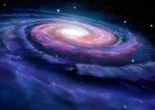 Spiral galaxy, illustration of Milky Way Royalty Free Stock Images