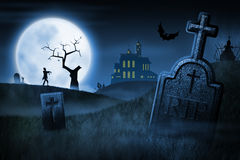 Spooky Halloween night Stock Image