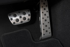 Sport car chrome pedals Stock Photography