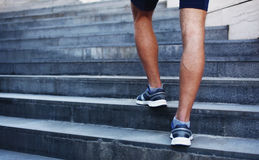 Sport, fitness and healthy lifestyle concept - man running Stock Image