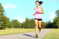 Sport fitness woman running Stock Photo