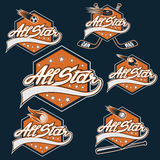 Sports all star crests Royalty Free Stock Images
