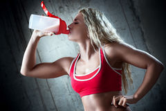 Sports nutrition Royalty Free Stock Photos