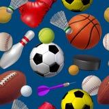 Sports Seamless Pattern Royalty Free Stock Photo