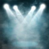 Spotlight blue on smog Royalty Free Stock Image