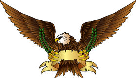 Spread winged eagle insignia Royalty Free Stock Photos