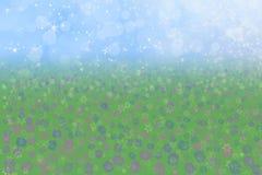 Spring Background Blue Sky Meadow Flowers Stock Photos
