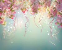 Spring Cherry Blossom Wedding Background Stock Photos