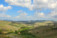 Spring countryside view. Piedmont, Italy. Stock Photography