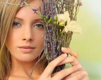 Spring season woman Stock Images
