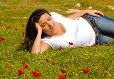 Springtime Serenity, enjoying nature Royalty Free Stock Photo