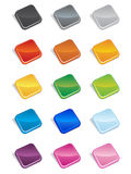 Square Buttons 3D Stock Photos