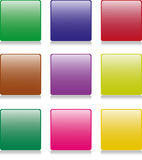 9 Square Buttons Stock Image
