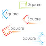 Square icons Royalty Free Stock Images
