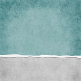 Square Light Teal Grunge Torn Textured Background Stock Photography