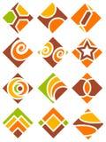 Square logo set Royalty Free Stock Photos
