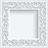 Square paper frame Stock Image