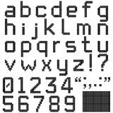 Square Pixel Font Royalty Free Stock Photos
