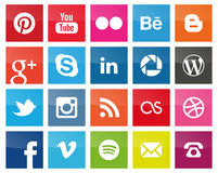 Square Social Media icons Royalty Free Stock Photos